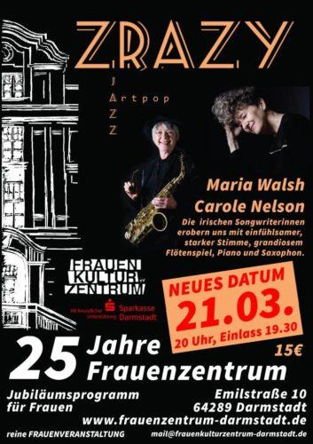 ZRAZY Konzert am 21. März 2020 im FrauenKulturZentrum Darmstadt